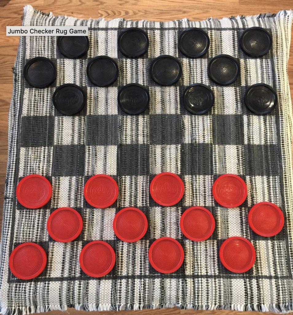 Rug Checkers Game