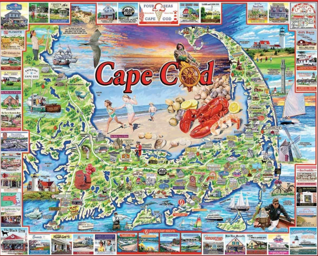 Cape Cod Map Jigsaw Puzzle
